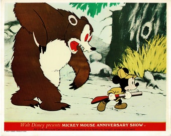 Mickey Mouse Anniversary Show  - 1968 - UK  mini lobby card