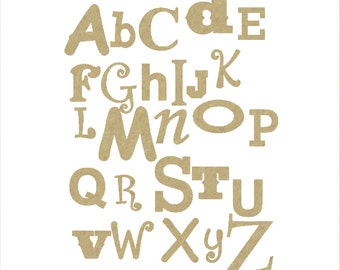 Unfinished Wooden Alphabet Set