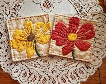Flower  tea coaster set