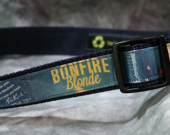 Adjustable Dog Collar from recycled Samuel Adams Bonfire Blonde Beer Labels