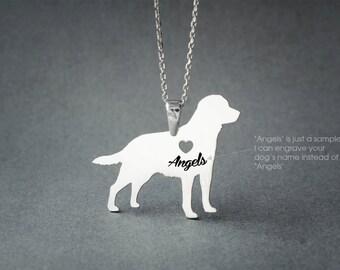 LABRADOR RETRIEVER NAME Necklace - Labrador Retriever Name Necklace - Personalised Necklace - Dog breed Necklace - Dog Necklace