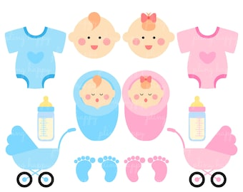 70% OFF Babies Set Cliparts, Babies Set Clipart Graphics, Personal & Small Commercial Use, Instant Download