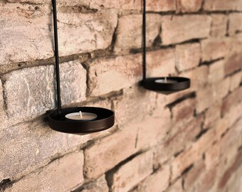 Wall candle holder pair