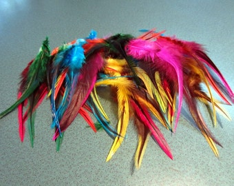 Mixed  Feathers badger saddle