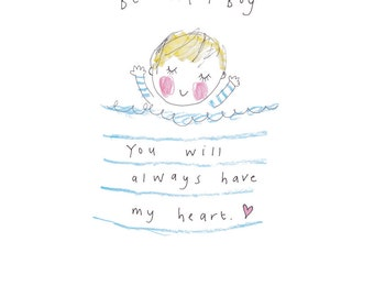 Beautiful Boy - BLONDE - a print from the 'Sketchy Muma' series by Anna Lewis