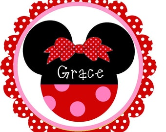 Minnie Mouse Valentine Scallops Iron on