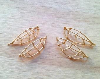 Handmade Earclimbers leaves/ Stunning earrings natural look/ Leafs earclimbers handmade