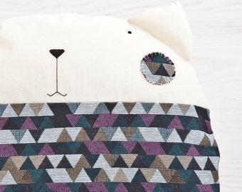 Cute Baby Pillow Cat Floor Cushion Geometric Decorative Pillow Bedding Baby Round Pillow Kids Cats Nursery Decor Housewarming Gifts