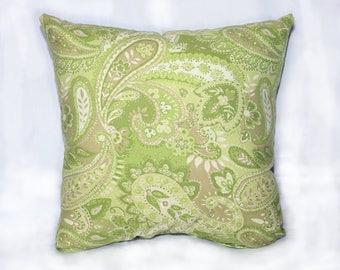 Spring in Loch Lomond Paisley Throw Pillow
