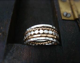 the gathering … mixed metal stacking rings