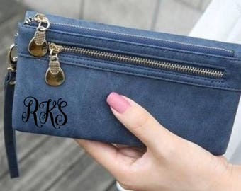 Personalized Women's Wallet Clutch Personalized monogrammed Clutch Wallet Bridesmaids Gift Mother Wallet Girlfriend Clutch Personalized Gift