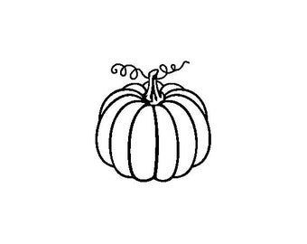 """Small Pumpkin Stamp, card stamp, gift tags stamp, label stamp, stationary stamp, halloween stamp, festive stamp, 0.75"""" x 0.7"""" (minis81)"""