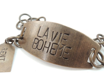 La Vie BohemeToday Hand Stamped Brass Bracelet