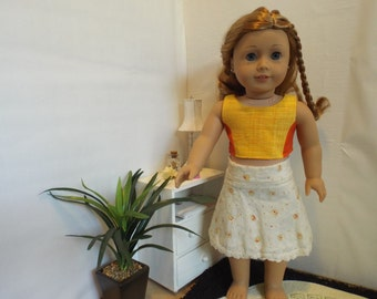 """Orange You Glad-3 Piece Outfit-Fits 18"""" dolls LIKE American Girl"""