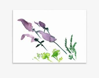 Unrecognisable Parts Of Our Garden 5, print on fine art paper