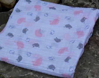 Swaddle Blanket/ Double Gauze Blanket/ Baby Swaddling Blanket/ Muslin Baby Blanket/Baby Shower Gift