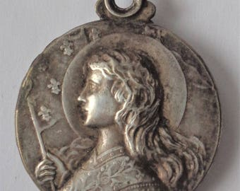 Antique  Locket St. Joan Of Arc