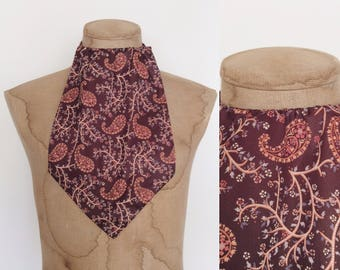 1970's Brown Polyester Dickey Men's Scarf by Maeberry Vintage