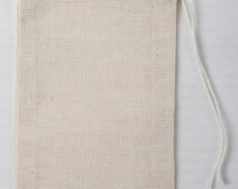 50 3x5 Cotton Muslin Drawstring Bags Bath Soap Herbs