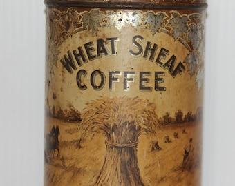 Vintage Wheat Sheaf Coffee Tin