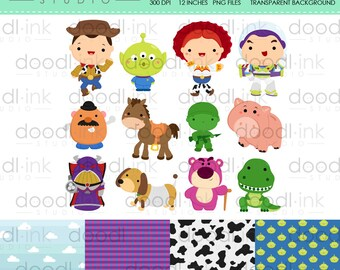 SALE 50%!!! Fantastic Toys Digital Clipart / Cute Live Toy Clip Art / Digital Paper For Personal Use / INSTANT DOWNLOAD