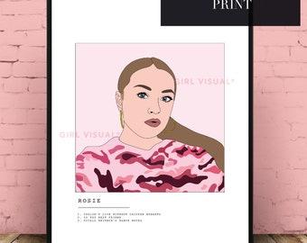 Custom Portrait gift idea, Custom Portrait print, Portrait print, Best friend gift, Custom selfie illustration, Selfie print, Custom gift