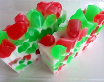 Holiday Candy Soap - Christmas Soap - Holiday Soap - Christmas Gift - Stocking Stuffer - Coworker Gift - Friend Gift - Glycerin Soap