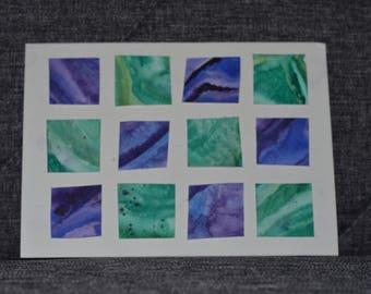 Green and Purple handmade card