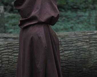Hooded Cloak - Adult, Dark Brown