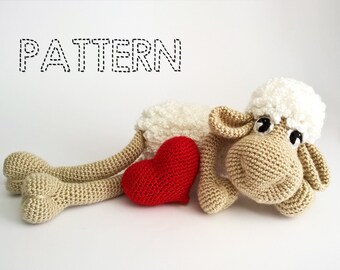 SALE Easter Sheep Crochet Patterns, Easter Lamb Crochet, Amigurumi Animals Tutorial,3D Heart Crochet,Lamb Baby Toys, Stuffed animals