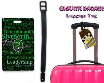 harry potter slytherin-  #1-036 - luggage tag name