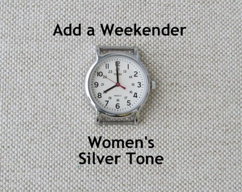 Add a Timex Women's Weekender Watch Face, Silver Tone