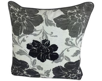Blooms & Zig Zags Decorative Pillow - Hypoallergenic 26 x 26 Quality