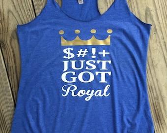 KC Kansas City Royals baseball shirt Womens tank top