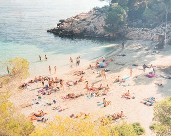 Beach Photography, 'Cala Salada', Limited Edition Fine Art Photo, Image Transfer on Wood Panel by Patrick Lajoie, Ibiza, mediterranean