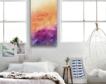 Soulmates - Abstract Art - Iridescent Watercolour on Canvas - Original Painting