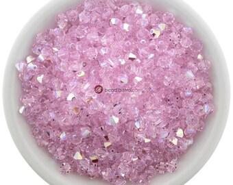 Rosaline AB (4mm) Swarovski Crystal 5328 Xilion Bicones