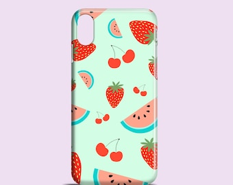 Fruit Salad phone case / iPhone X / iPhone 8 / iPhone 8 Plus / iPhone 7 /  iPhone 7 Plus / iPhone 6, 6S, 5, 5S, SE, Samsung Galaxy S models