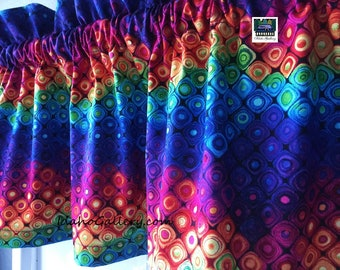 "Rainbow Fantasy Forest Valance Teacher Classroom Daycare PreSchool Valance Kitchen Curtain Short Curtain 11"" x 41"" Wide at Idaho Gallery"