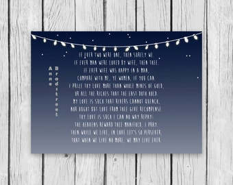 To My Dear and Loving Husband Anne Bradstreet wife marriage newlywed Quote Poster Printable love book soulmate home decor