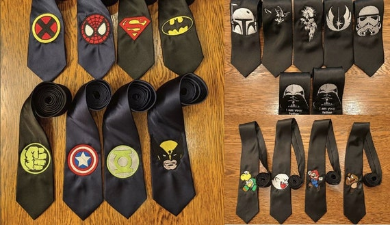 Custom Order Wedding Ties (groomsmen, bridesmaids, gifts, comics, horror, scifi, wedding)