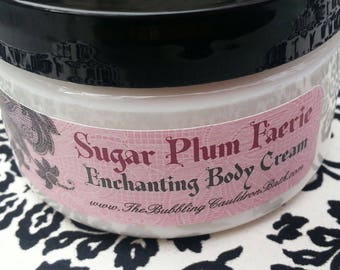 Body Cream - Sugar Plum Faerie - Enchanting Body Cream - Goth Body Cream