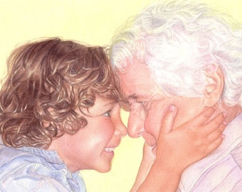 son, boy portrait, grandpa portrait, man portrait, custom portrait