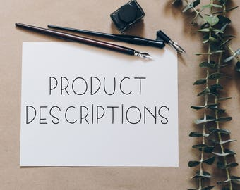 Product Description | SEO Optimized Product Descriptions | SEO Product Listings | Ecommerce Product Descriptions