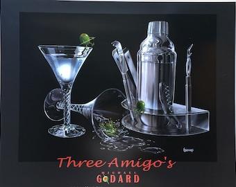 Wall Art Michael Godard Three Amigos PRINT POSTER 24 X 30