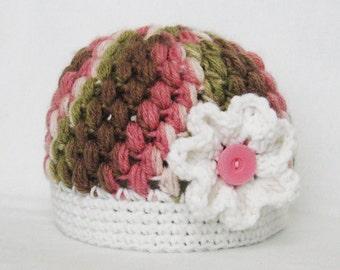 CROCHET PATTERN - Zebra Puff Stitch Beanie - Instant Download crochet hat girl winter hat