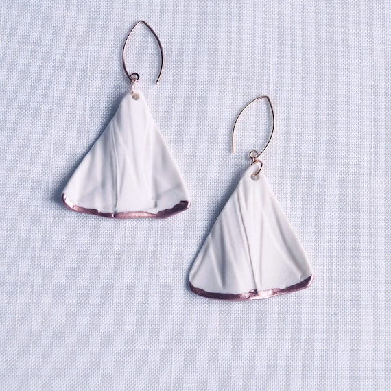 RUCHED No8 fan statement earrings