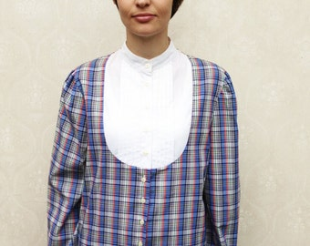 "Vintage yoke top, small medium large - tartan . . . ""Like"" our fb page for 10% discount"