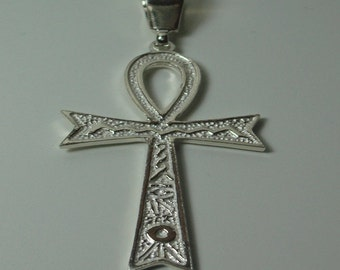 Pendant 925 sterling silver with key Egyptian life.