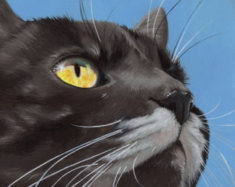 Custom Pet Portrait - painting, dog art, cat portrait, gift for cat lover